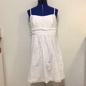 New York & Co White Cotton Strappy Dress Sz 12